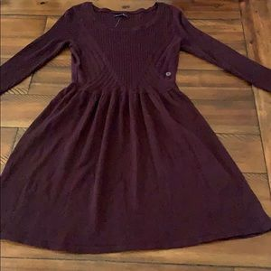 NWT American Eagle Sweater Dress Fit & Flare Plum